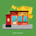 building, construction, courier, delivery, office, post, postal icon