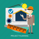 building, construction, planning, project icon