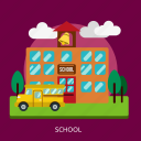 blackboard, building, chalkboard, construction, education, school icon