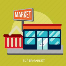 building, construction, market, retail, shop, store, supermarket icon