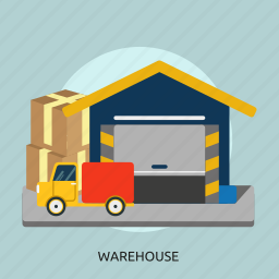 box, building, cargo, construction, logistic, storage, warehouse icon