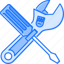 adjustable, building, screwdriver, support, technical, tool, wrench icon
