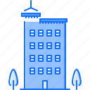 building, crane, house, interior, repairs, tree icon