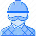 builder, building, helmet, human, interior, mustache, repairs icon