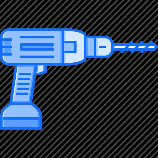 building, drill, interior, repairs, tool icon
