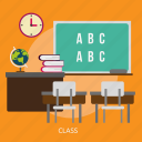 building, class, interior, room, teacher icon