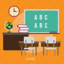 building, class, interior, room, teacher