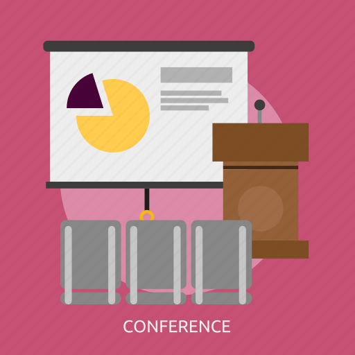 building, conference, interior, lecture, presentation, training icon