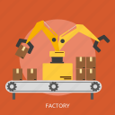 building, factory, industrial, machine, technology icon