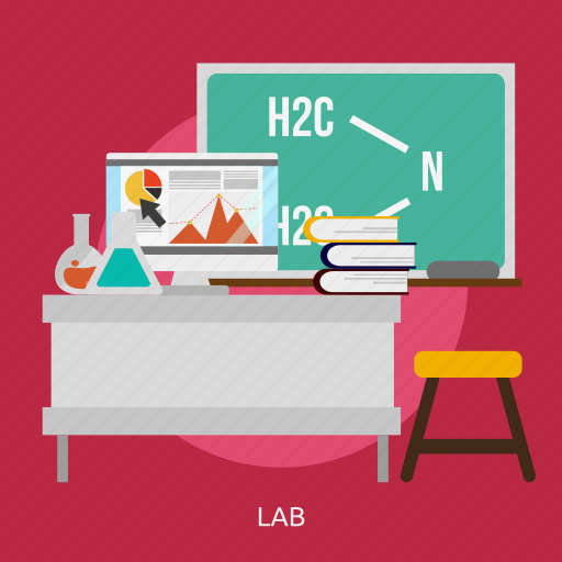 building, experiment, interior, lab, laboratory, research, science icon