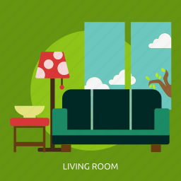 building, interior, living, living room, room icon