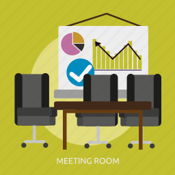 building, interior, meeting, meeting room, room icon