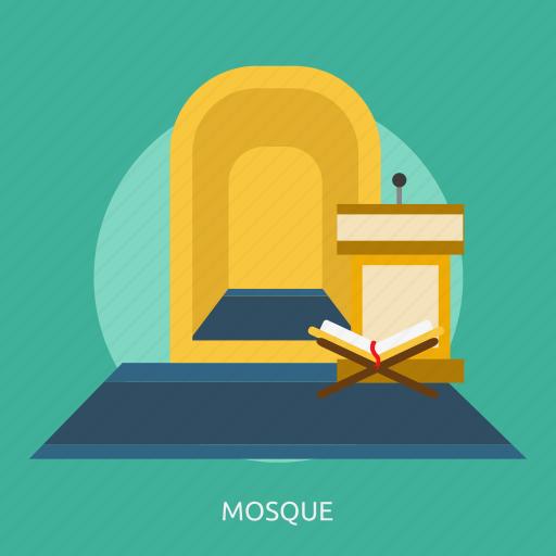 building, design, interior, islam, mosque, muslim, religion icon