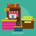 building, grocery, interior, market, retail, shop, supermarket