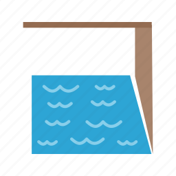 blue, indoor, pool, reflection, swim, swimming, water icon