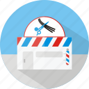 babershop, building, cream, cut, hair, knife icon