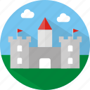 building, castle icon