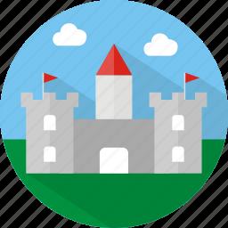 building, castle icon