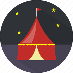 amusement, building, circus, show icon