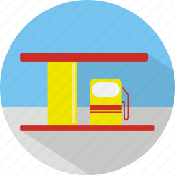 building, fuel, gas, gas station, oil, pump icon