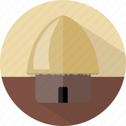 building, hut, straw house, traditional house icon