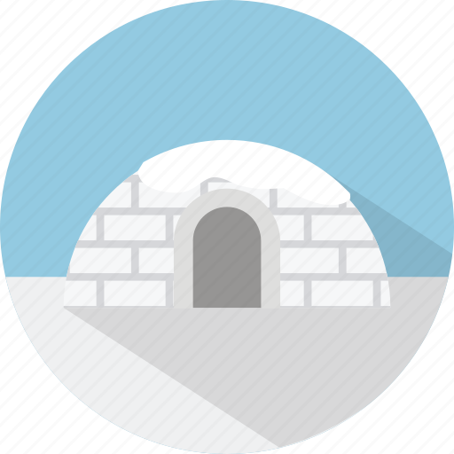 building, ice, icehouse, igloo, vacation icon