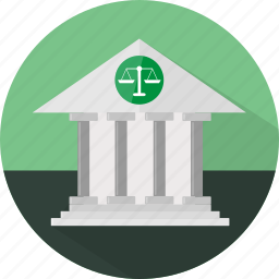 building, court, courthouse, law, law court icon