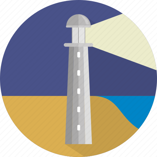 building, light, lighthouse, navigation, tower icon