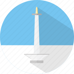 building, indonesia, jakarta, monas, tower icon