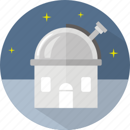 building, observation, star, study icon