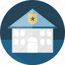building, house, police, police stasion, station icon