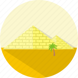 building, egypt, pyramids icon