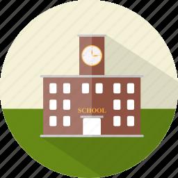 building, education, school, study icon