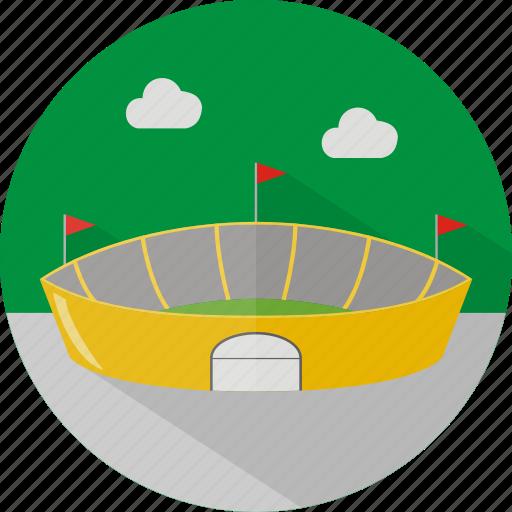 building, football, sport, stadium icon