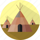 building, tipi, traditonal house icon
