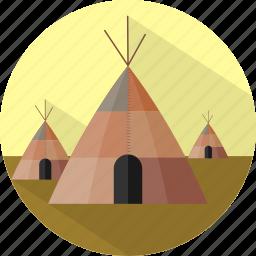 building, tipi, traditonal house icon
