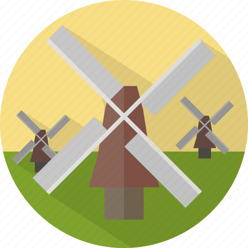 building, ecology, wind, windmills icon