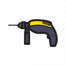 building, building tools, construction, drill, repair, tool icon