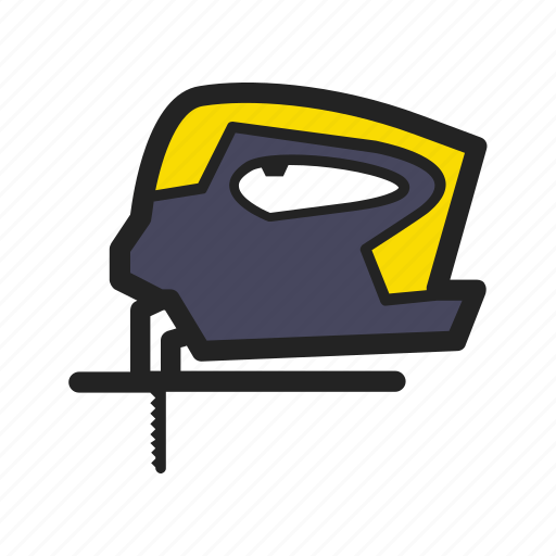 building, building tools, construction, fretsaw, tool, work icon
