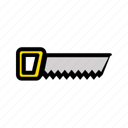 building, building tools, construction, saw, tool, work icon