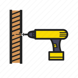 building, building tools, construction, screw, the, tightening, tool icon