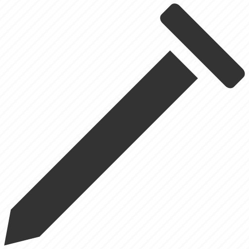 equipment, nail, peaked, pin, repair, stave, tool icon