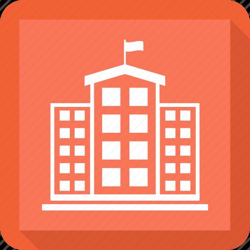 building, city, company, construction, school icon