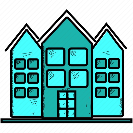city, office, town icon