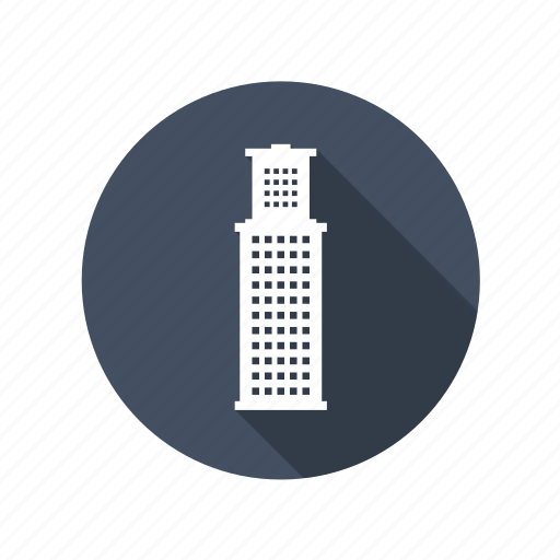apartment, building, business, company, corporation, downtown, flats, office, real estate, tower, work icon