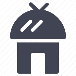 architecture, building, construction, home, hut, property icon