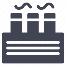 architecture, building, construction, factory, industry, large icon