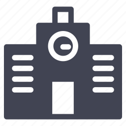 architecture, building, construction, library icon