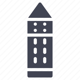 architecture, building, construction, estate, tower icon