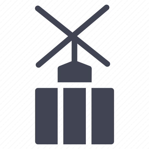 architecture, building, estate, factory, industry, mill, wind icon